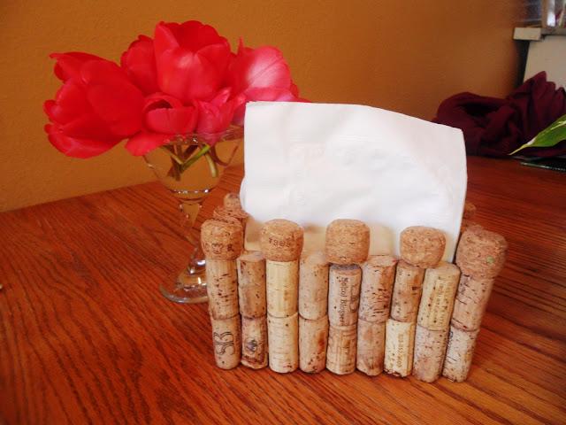 wine cork napkind holder