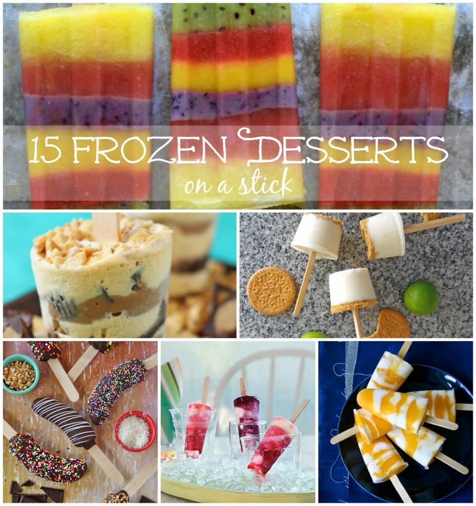 15 frozen desserts on a stick #foodie #foodiebyglam @Melissakaylene