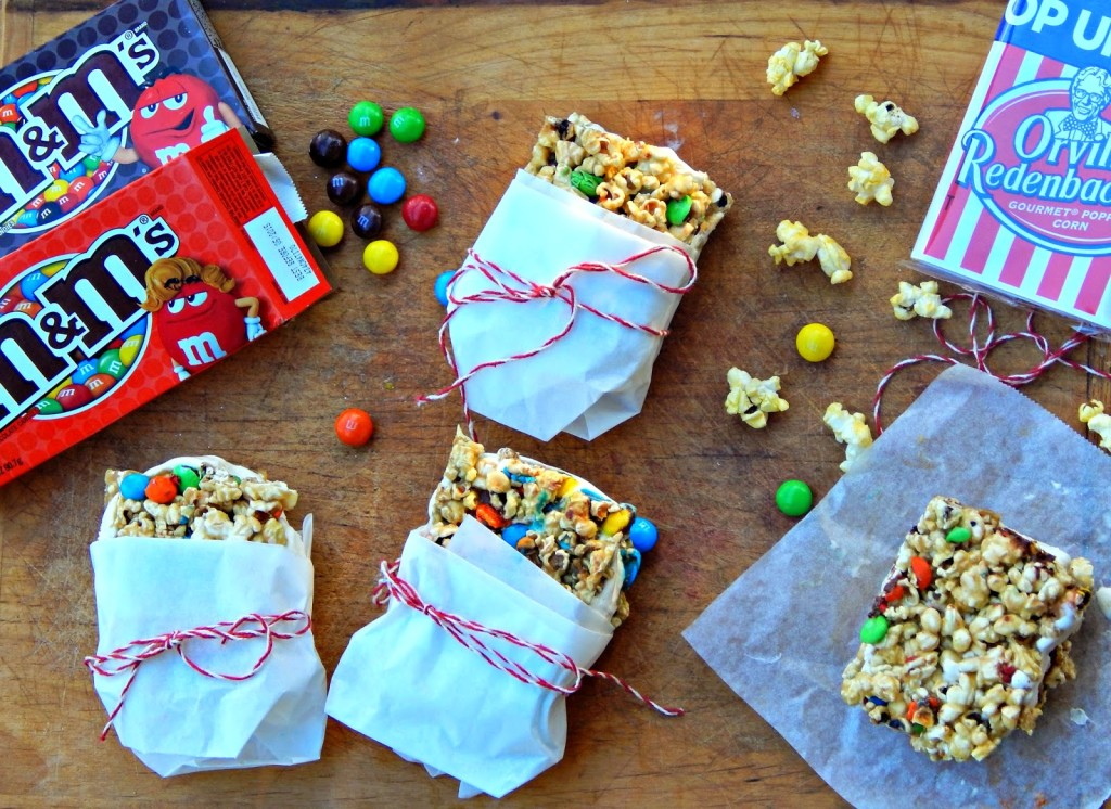 Chocolate M&M's® Butterscotch Popcorn Ice Cream Sandwiches #movienight4less #ad #shop