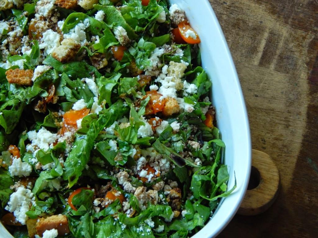 a feta bruschetta basil balsamic salad from @melissakaylene