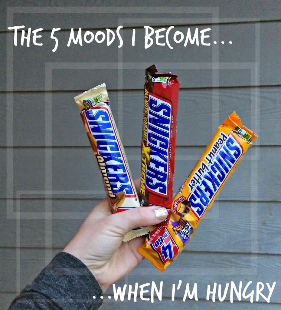 The 5 Moods I become #WhenImHungry #ad