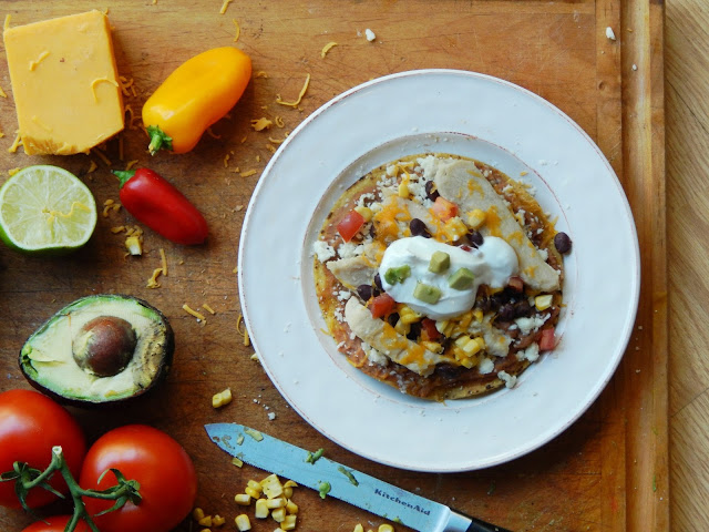 Southwest Inspired Chicken Tostadas #readysetchicken #ad