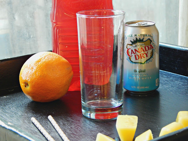 Here's a simple and delicious cranberry orange sparkling soda that can be enjoyed by all ages! #Simplysparkling AD