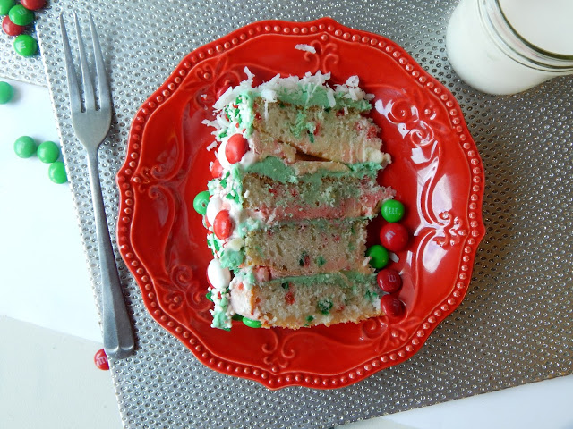 White peppermint ice cream cake recipe #bakeinthefun AD