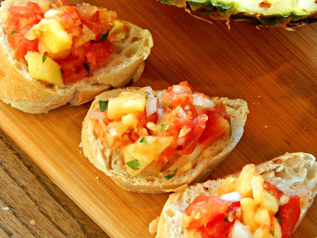 How to make a sweet and slightly spicy pineapple salsa #YesYouCAN ad