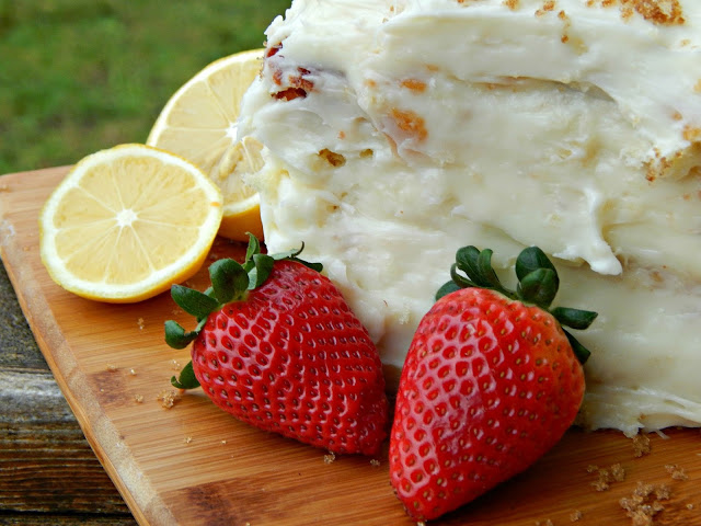 recipe for a three tiered strawberry lemonade cake @MelissaKaylene