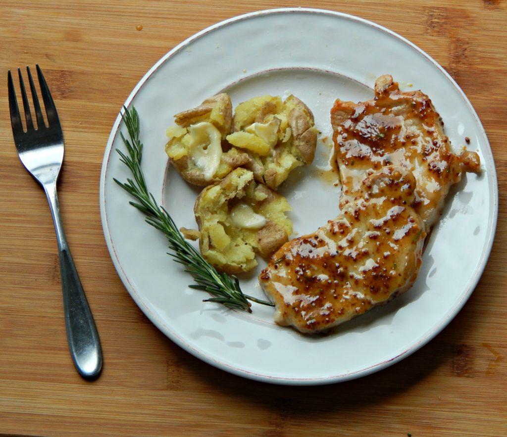 rosemary mustard pork chops