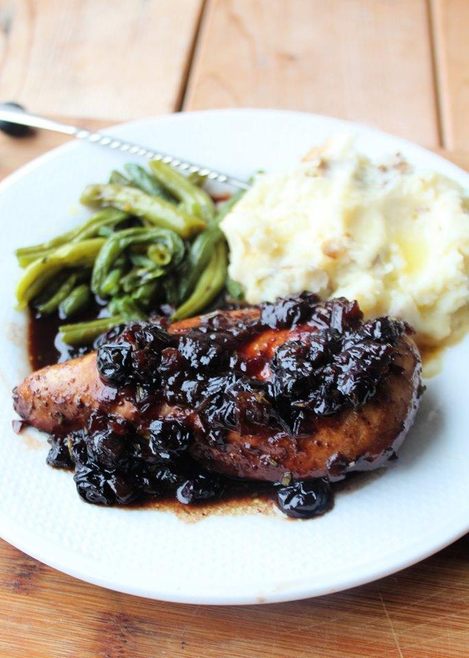 balsamic blueberry chicken